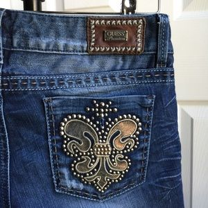Guess Daredevil Studded Bootcut Stretch Jeans